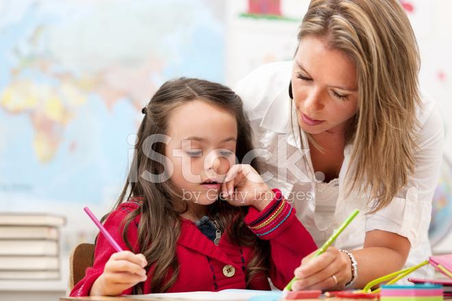 Premium Stock Photo Of Schoolgirl And Teacher