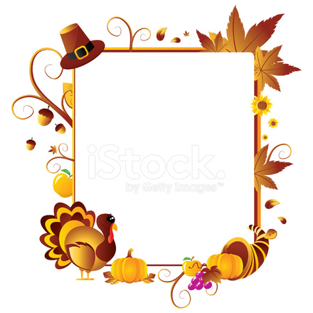 Ƅ�恩节框架 Stock Vector Freeimages Com