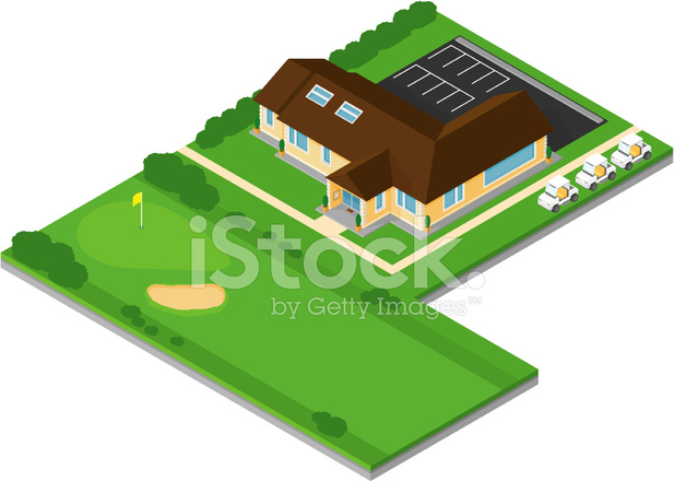 isometric golf club house stock vector freeimages com Park Clip Art parking garage clip art