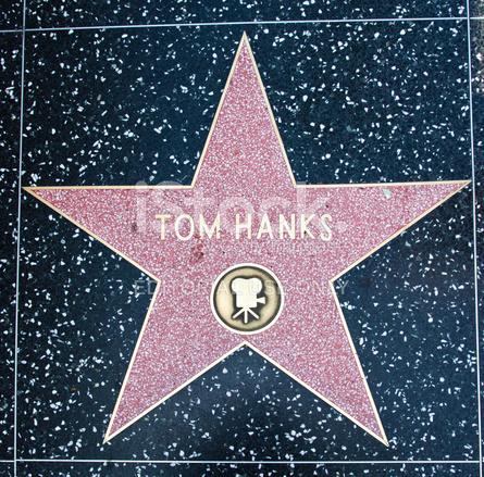 hollywood walk of fame star tom hanks stock photos