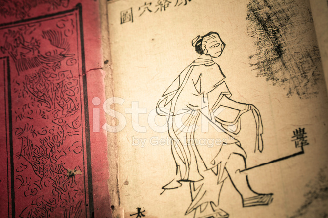 Old Medicine Book from Qing Dynasty Stock Photos