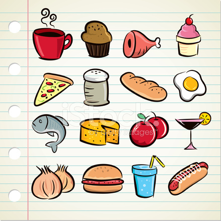 Icone Alimentaires Sommaire Image Vectorielle Freeimages Com