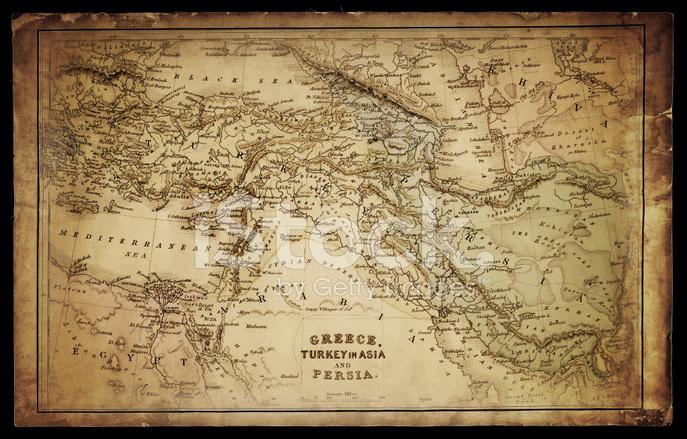 Greece, Turkey and Persia Map Stock Photos - FreeImages.com