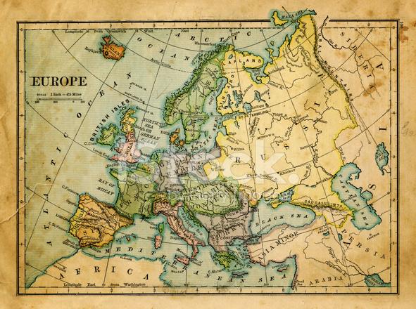 karta gammal Gammal Karta Över Europa Stockfoton   FreeImages.com karta gammal