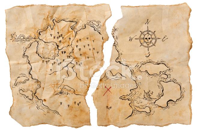 Carte Au Tresor Dechire.Pirate Carte Au Tresor Enfoui Dechire Dans La Photos
