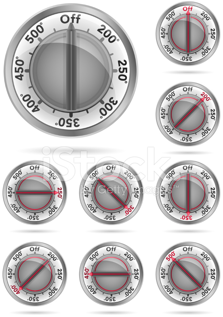 Oven Temperature Knobs Stock Vector Freeimages Com