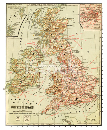イギリス諸島の古地図 ストックフォト - FreeImages.com