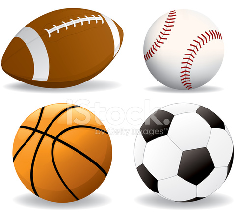 football, baseball, basketball, soccer ball stock vector