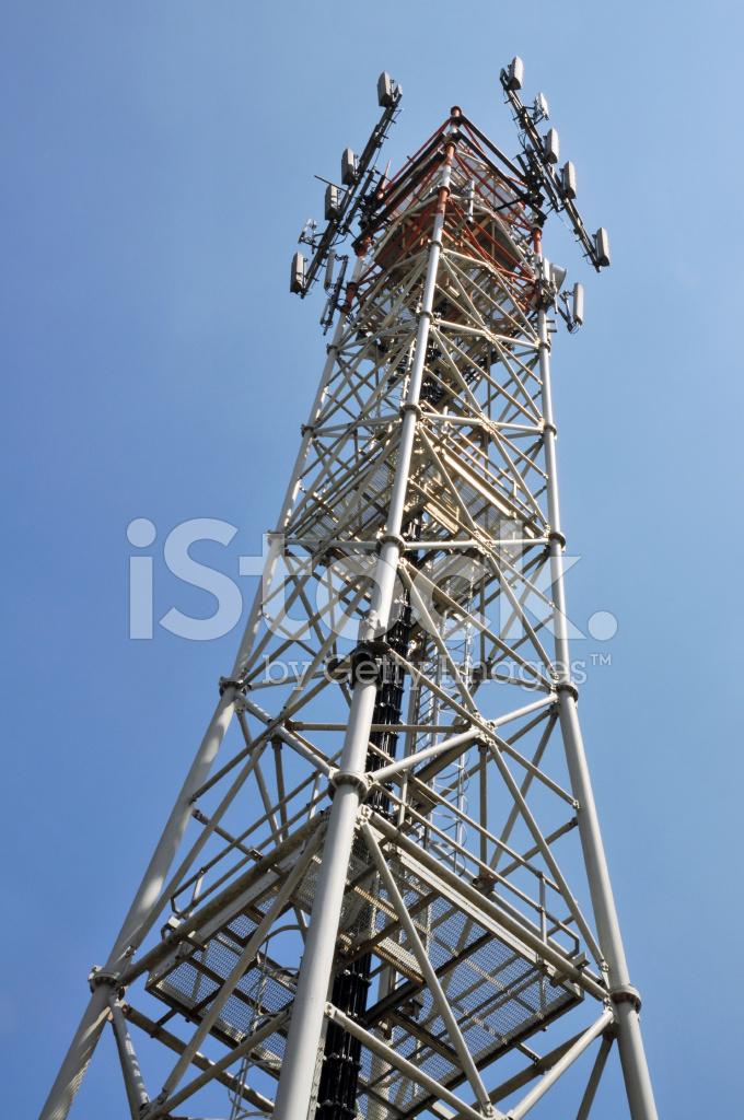 Telecommunication Room Design: Communication Tower Stock Photos