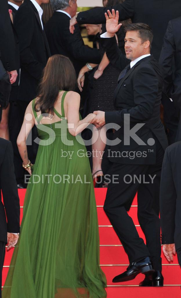 Brad Pitt, Angelina Jolie Cannes 2008: \'kung Fu Panda\' Premi Stock ...