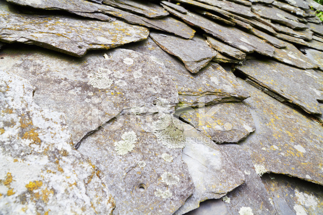 Old Schist Roof Stock Photos Freeimages Com