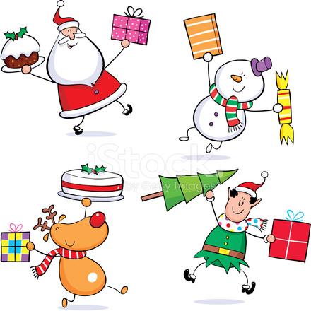 premium stock photo of santa snowman reindeer elf - Snowman Santa