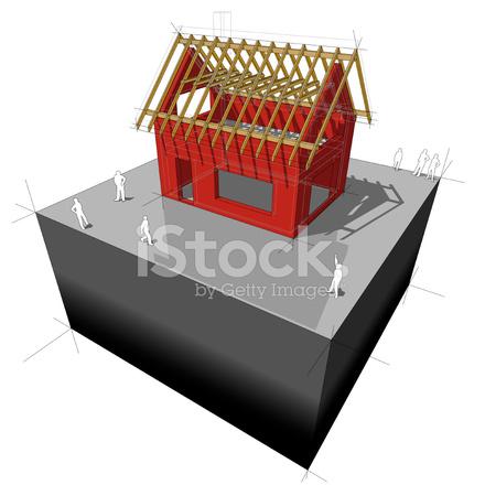Haus/dach Rahmen Diagramm Stock Vector - FreeImages.com