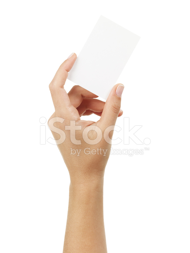 Woman Hand Holding AN Empty Business Card Stock Photos - FreeImages.com