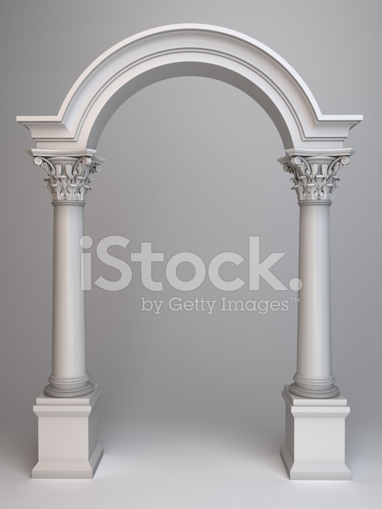 Arc With Columns 3d Render Stock Photos Freeimages Com