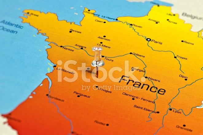 Frankreich Karte Stockfotos Freeimages Com
