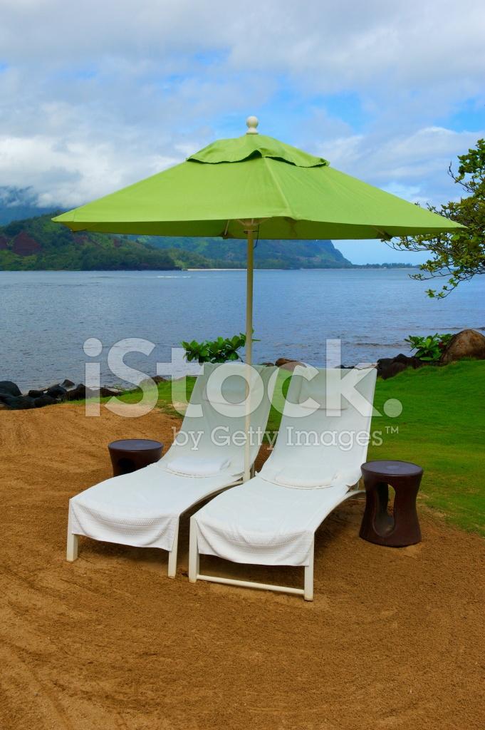 Terapi Stole Og Paraply På Hawaii Stock Photos-5746