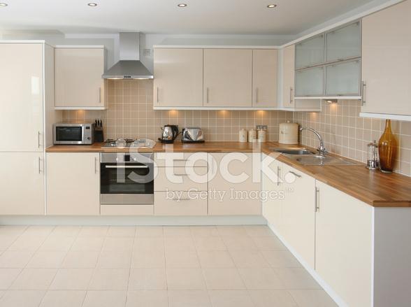 Moderne Beige Küche Interieur Stockfotos - FreeImages.com