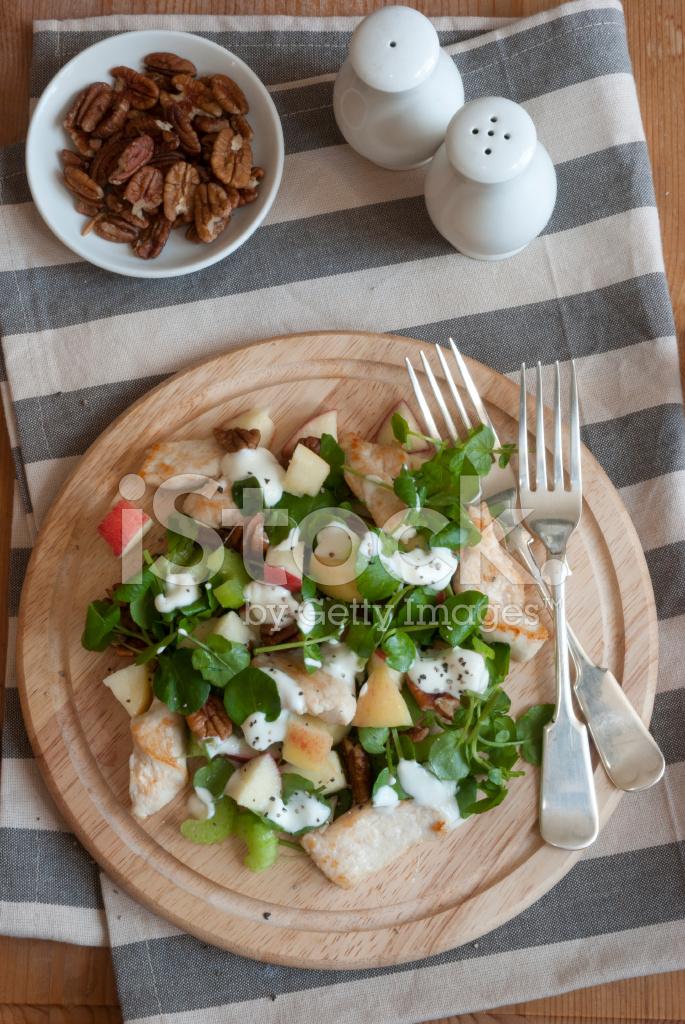 Tavuk Waldorf Salatası Stok Fotoğrafları Freeimagescom