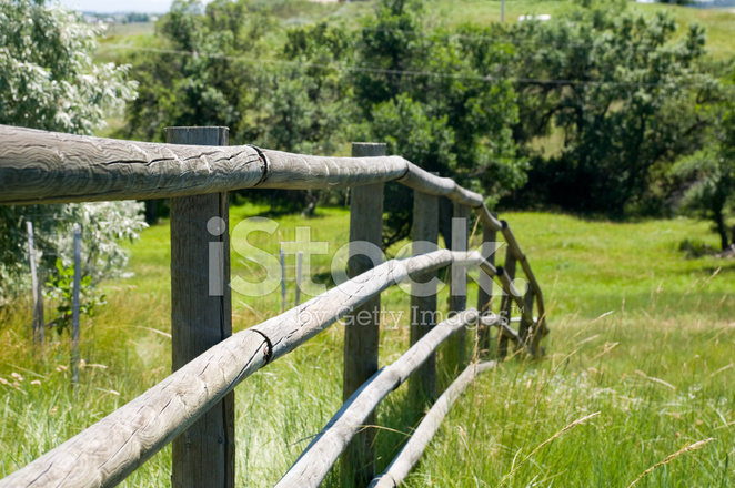 Fence on wyoming landscape stock photos freeimages