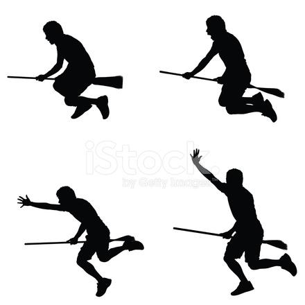 Man Riding A Broom 21723