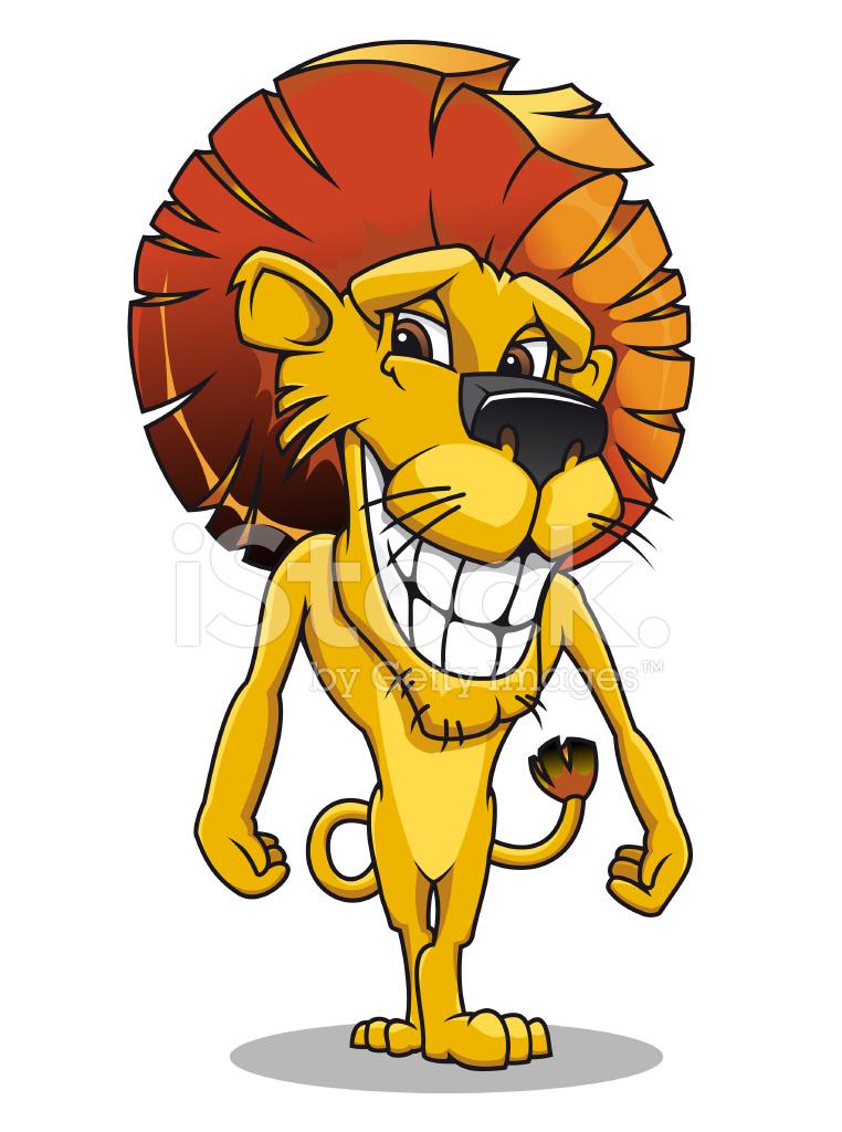 Smiling Cartoon Lion Stock Vector Freeimages Com