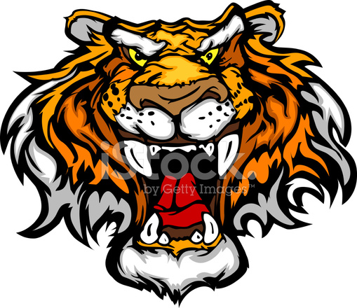 dessin anim tigre mascotte t te vector illustration stock vector. Black Bedroom Furniture Sets. Home Design Ideas