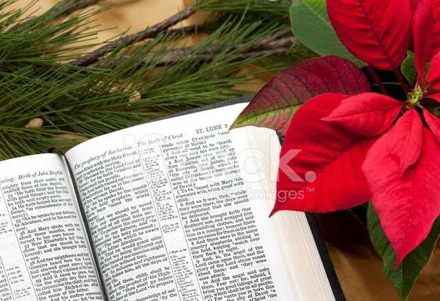 Christmas Bible Passage and Decorations Kjv stock photos ...