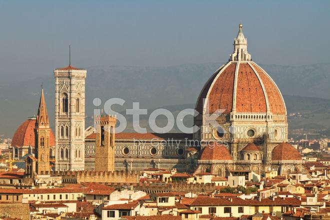 Brunelleschis Kupol Katedralen I Florens Italien