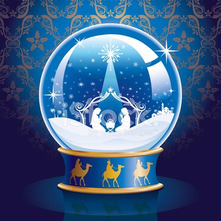 Nativity Snow Globe Stock Vector - FreeImages.com