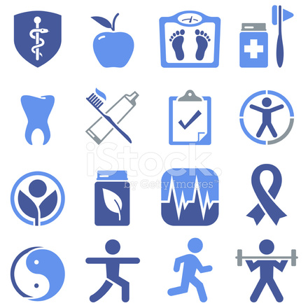 Health amp Wellness Icons Pro Series Stock Vector