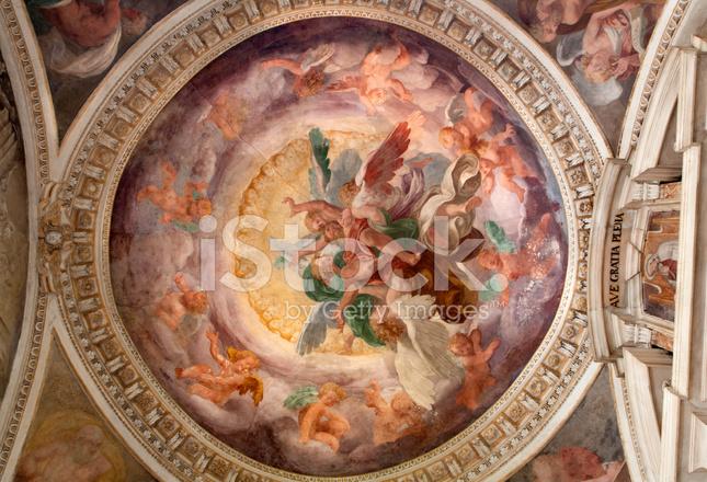 Milan Fresco from Cupola of Cappella Portinari Stock ...