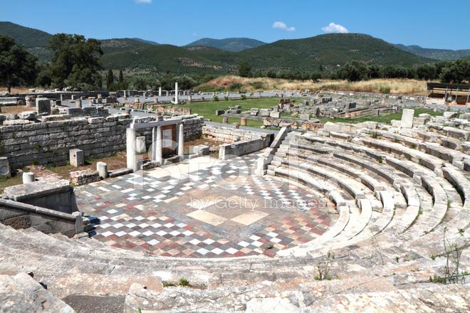 Ekklesiasterion Ancient Messene Peloponnese Greece