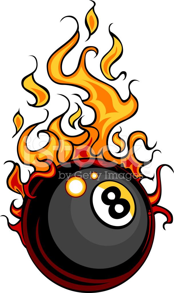 billiards eight ball flaming vector cartoon stock vector Starfish Clip Art Black and White Shrimp Boat Clip Art Black and White
