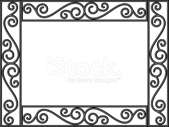 premium stock photo of wrought iron filigree frame - Wrought Iron Picture Frames