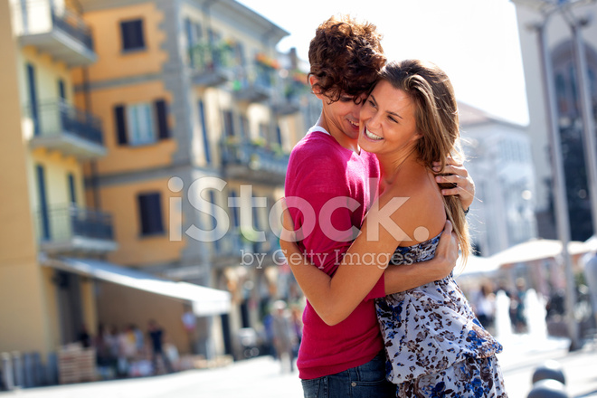 Young italians greeting each other on city street stock photos premium stock photo of young italians greeting each other on city street m4hsunfo