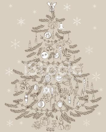 Immagini Di Natale Vintage.Albero Di Natale Vintage Stock Vector Freeimages Com