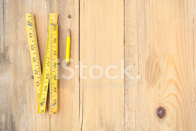 Wandplank 1 Meter.Old Folded Meter And Pencil On Plank Wood Stock Photos Freeimages Com