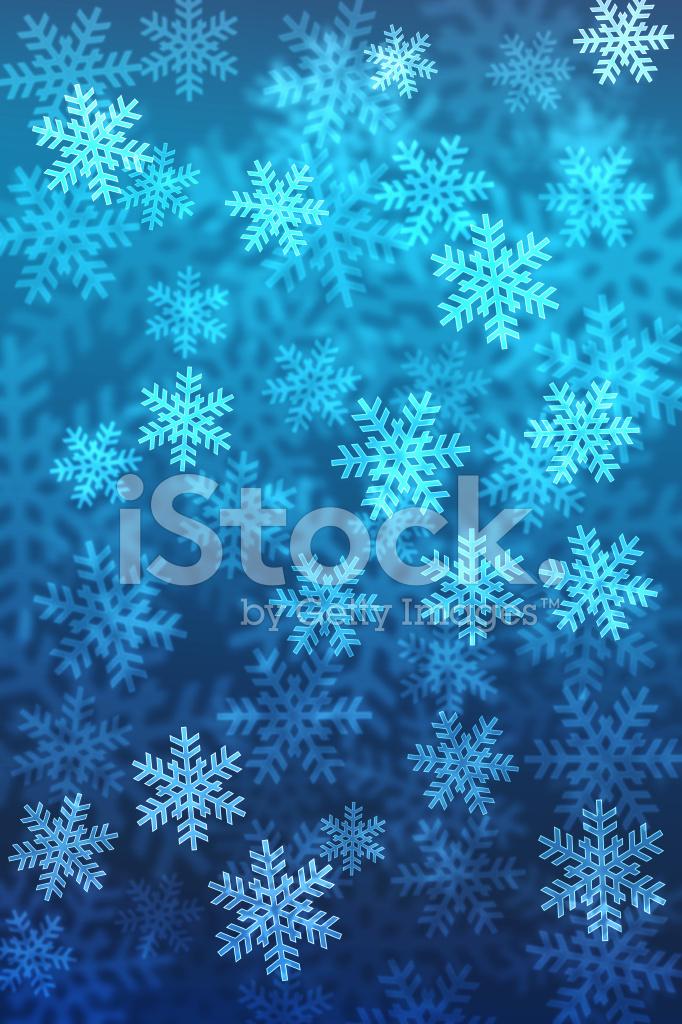 Bokeh Weihnachten Schneeflocke Hintergrund MIT Farbverlauf MIT Einem ...