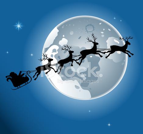 Santa Claus Sleigh Silhouette stock photos - FreeImages.com
