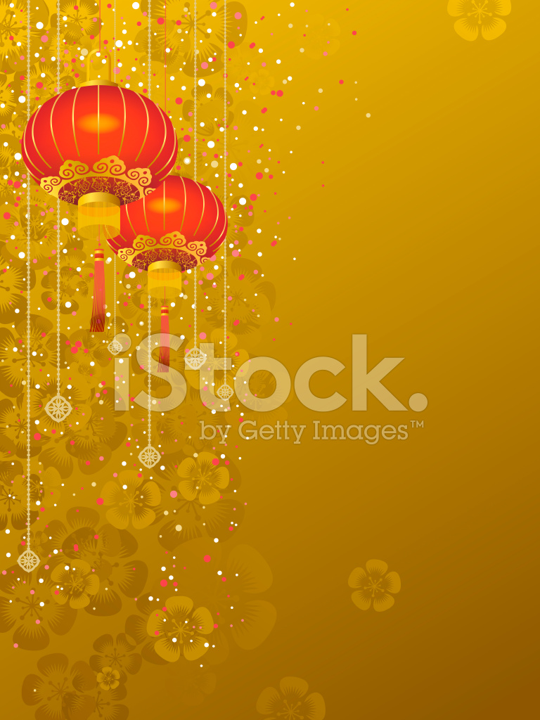Chinese Lantern Background Stock Vector
