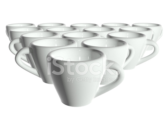 fdfc356d48d 3d Render White Tea Cups Isolated Without Shadow Stock Photos ...
