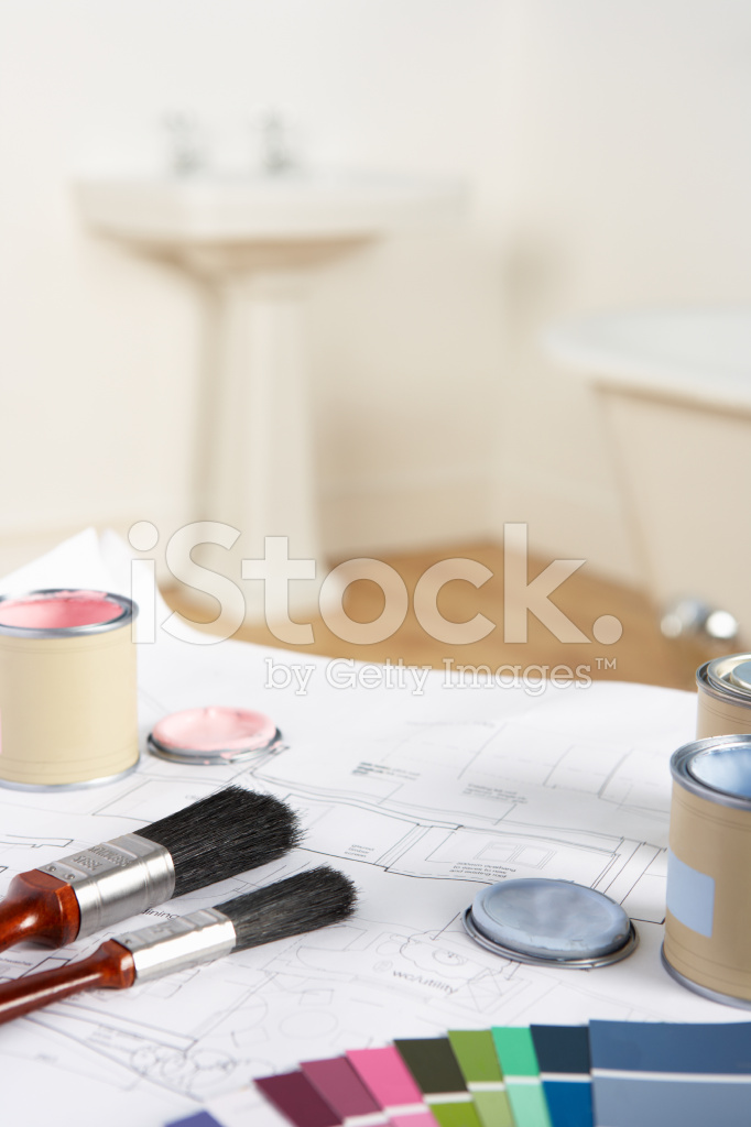 Decorating Tools and Materials IN Bathroom Stock Photos ...