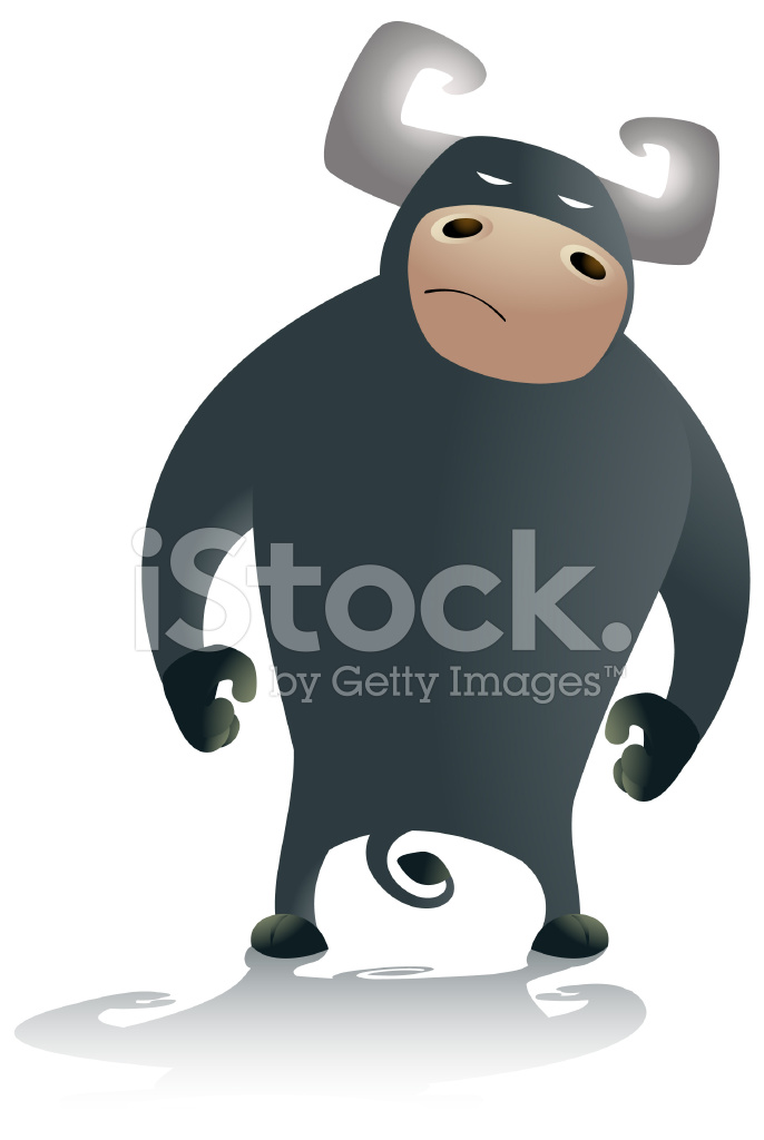 Cartone animato toro stock vector freeimages