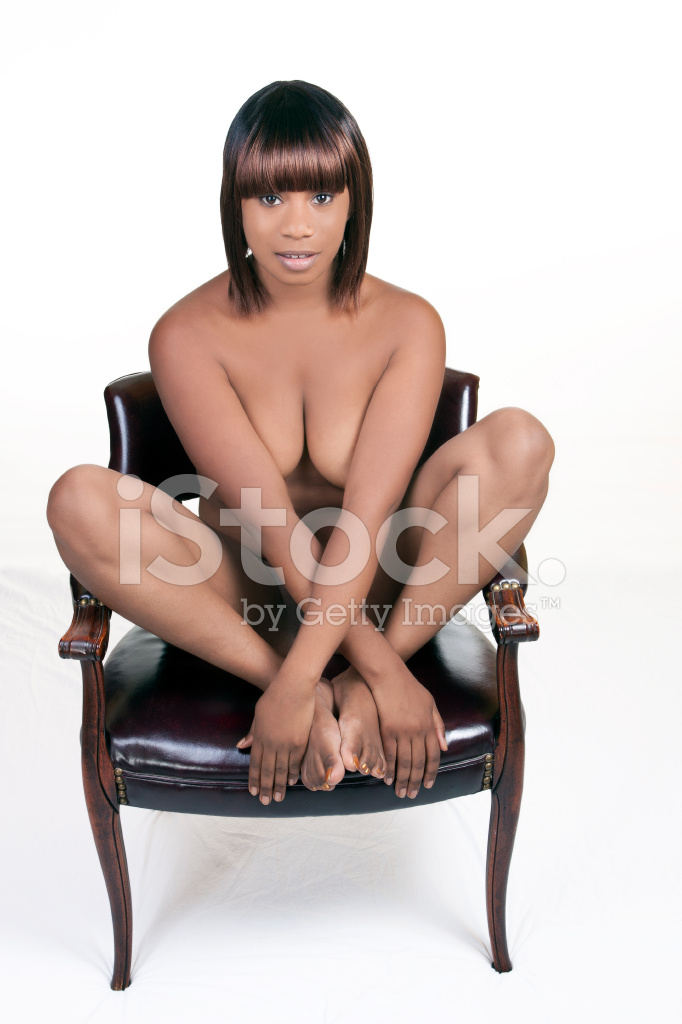 Young black naked woman