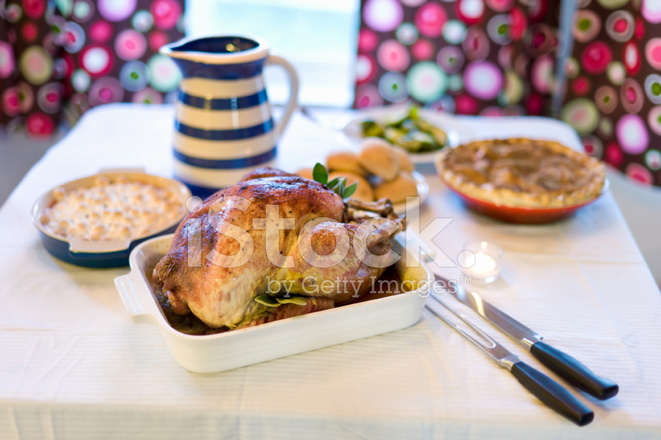 traditional turkey thanksgiving dinner stock photos. Black Bedroom Furniture Sets. Home Design Ideas
