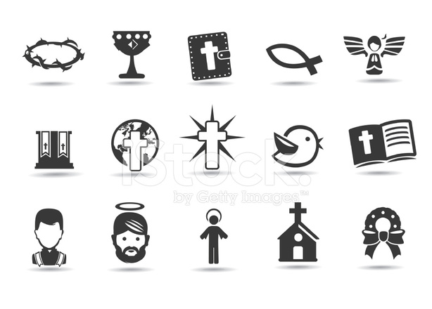 christmas religious symbols stock vector. Black Bedroom Furniture Sets. Home Design Ideas