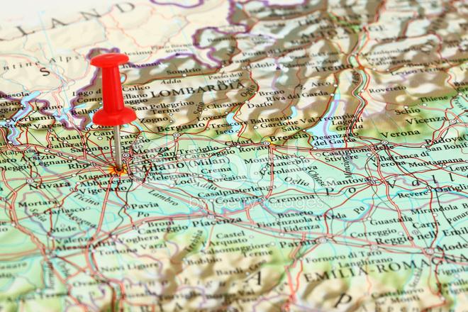 Milano Milano Karta Italien Europa Stockfoton Freeimages Com