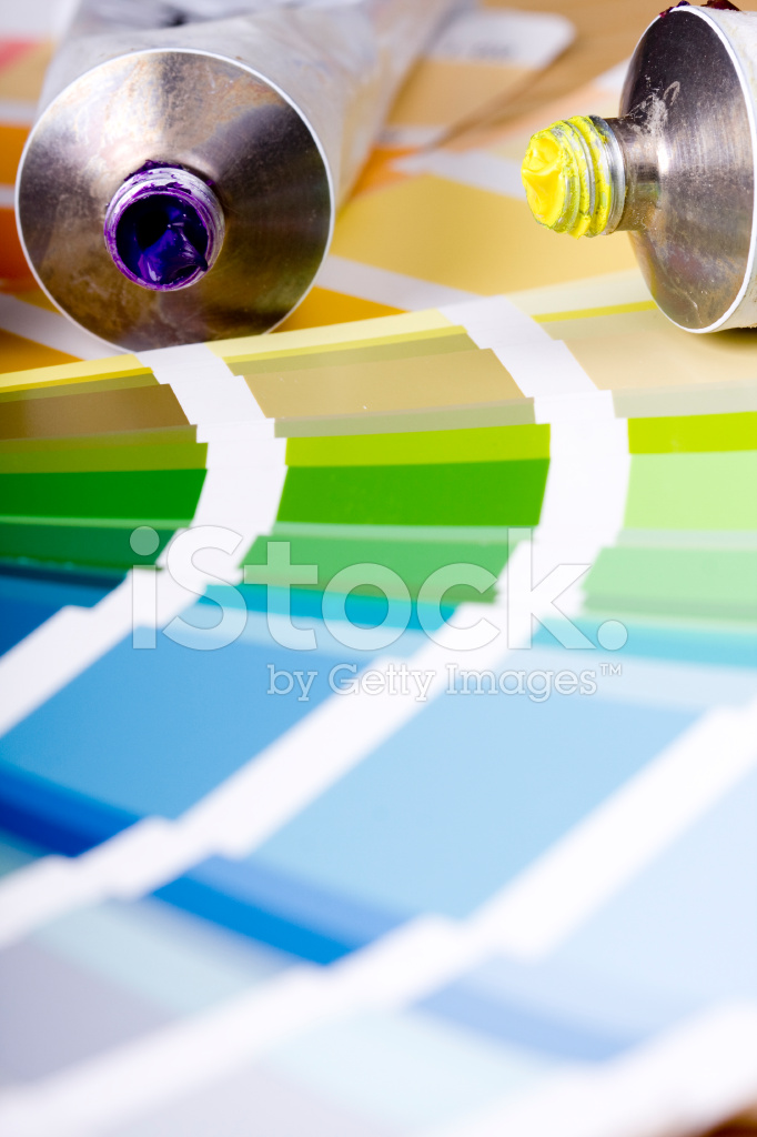 Artistic Equipment And Color Chart Stock Photos Freeimages