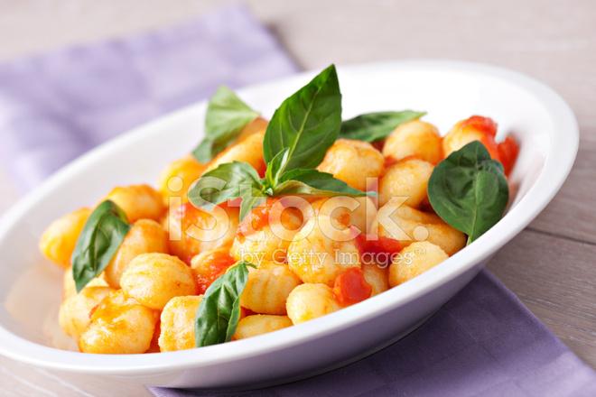 gnocchi tomatsås mozzarella